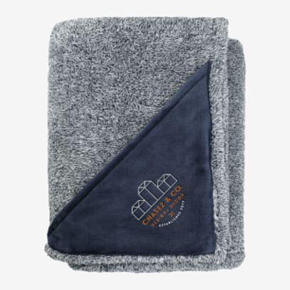 Heathered Look Fuzzy Fleece Blanket 50x60