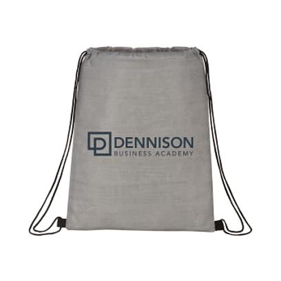 Graphite Non-Woven Drawstring Bag