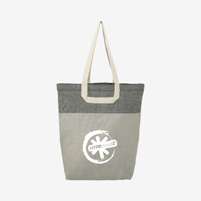 Recycled Cotton U-Handle Book Tote