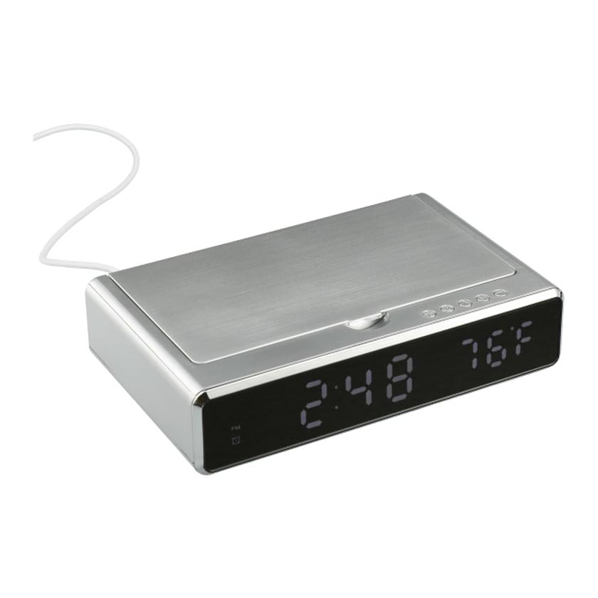 UV Sanitizer Desk Clock with Wireless Charging
