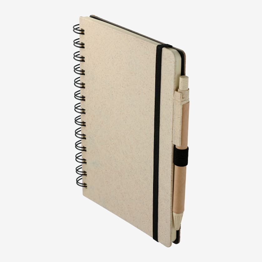 """5"""" x 7"""" Wheat Straw Notebook With Pen"""