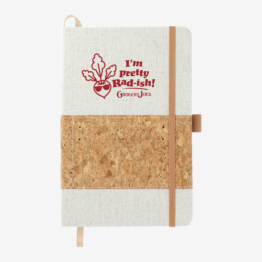 "5.5"" x 8.5"" Recycled Cotton and Cork Bound Noteboo"